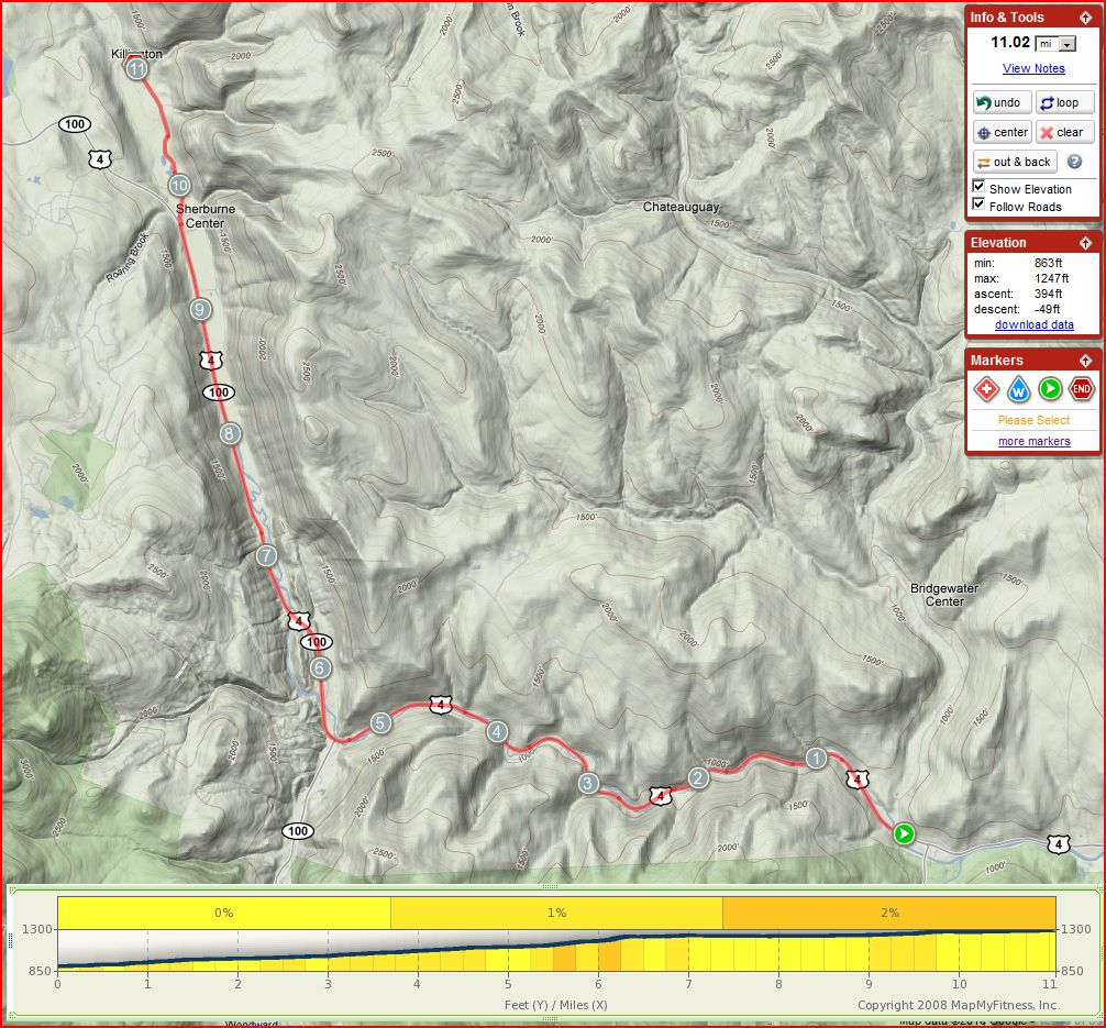 stage 2 course - Killington Stage Race